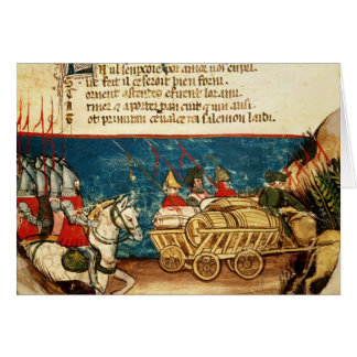 L'armée de Charlemagne et du transport Carte De Vœux