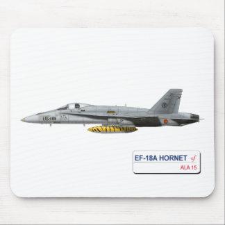 L'ARMÉE DE L'AIR D'ESPAGNOL DE FRELON D'EF-18A TAPIS DE SOURIS