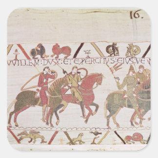L'armée de William allant au Saint-Michel de Mont Sticker Carré
