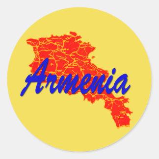 L'Arménie Sticker Rond