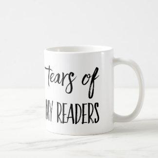 Larmes de tasse de café de mon auteur de lecteurs