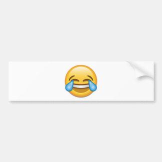 Larmes d'emoji de joie drôles autocollant pour voiture