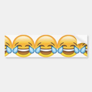 Larmes pleurantes riantes d'emoji de joie autocollant pour voiture