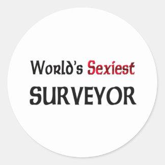 L'arpenteur le plus sexy du monde sticker rond