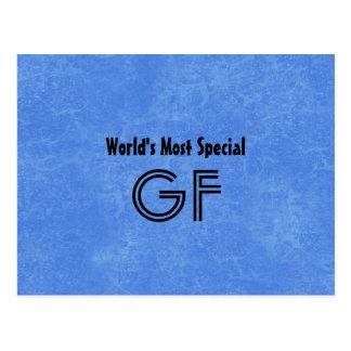 L'arrière - plan de bleu du parrain le plus carte postale