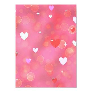L'arrière - plan de Valentine Carton D'invitation 13,97 Cm X 19,05 Cm