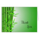 L'arrière - plan en bambou, remercient, vous carde carte de vœux