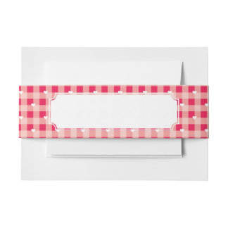 L'arrière - plan rouge doux de Valentine Bandeau De Faire-part