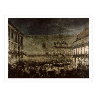 L'arrivée de princesse Amelia de la Saxe, dans une Carte Postale