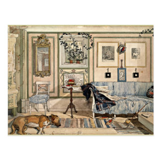 Larsson - coin confortable, 1894, illustration cartes postales