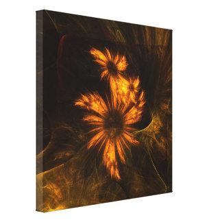 L'art abstrait de jardin mystique a enveloppé la toiles
