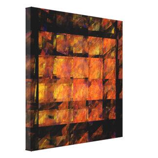 L'art abstrait de mur a enveloppé la copie de toiles