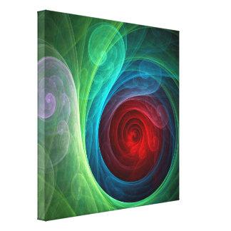 L'art abstrait de Red Storm a enveloppé la copie Toiles