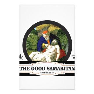 l'art de bon Samaritain Papier À Lettre Personnalisé