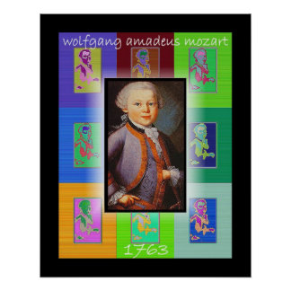 L'art de bruit petit Mozart Posters
