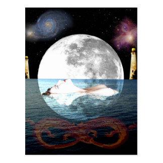 L'art de carte de tarot de lune carte postale