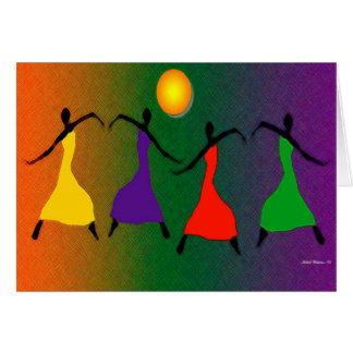 L'art de la danse carte de vœux