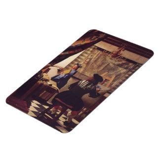 L'art de la peinture par Johannes Vermeer Magnets Souples