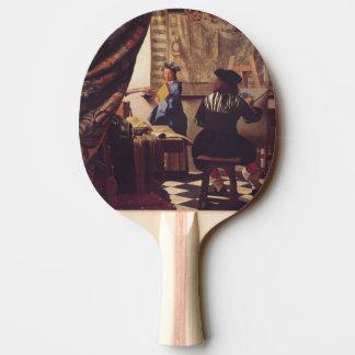L'art de la peinture par Johannes Vermeer Raquette De Ping Pong