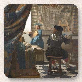 L'art de la peinture par Johannes Vermeer Sous-bock