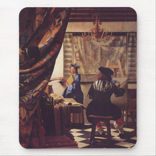 L 39 Art De La Peinture Par Johannes Vermeer Tapis De Souris Zazzle