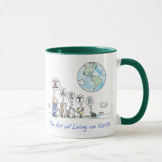 L'art de la vie sur la tasse de la terre