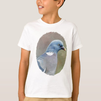 L'art d'oiseau de pigeon badine le T-shirt