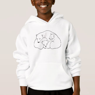 L'art d'ours blanc badine le sweat - shirt à