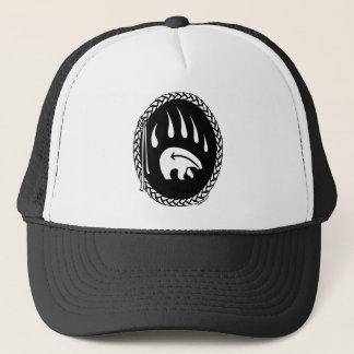 L'art d'ours indigène couvre le casquette tribal