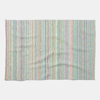 L'art en pastel barre la serviette de cuisine fait serviette pour les mains