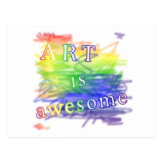 L'art est impressionnant carte postale