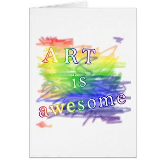 L'art est impressionnant cartes