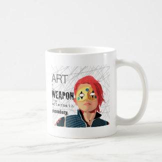 L'art est l'arme mug blanc