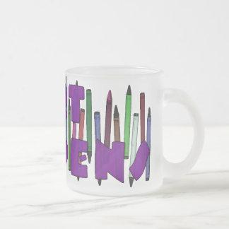 L'art se produit les crayons 3 mugs à café