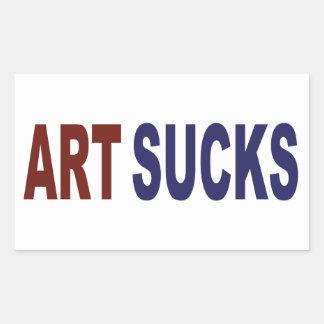 L'art suce sticker en rectangle