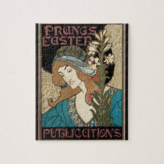 L'art vintage Nouveau, esquinte des publications Puzzle