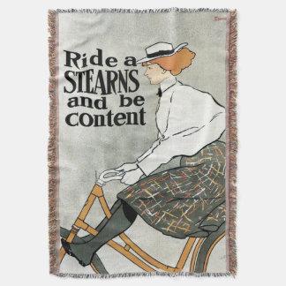 L'art vintage Nouveau, montent des vélos de Couvre Pied De Lit