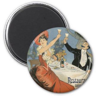 L'art vintage Nouveau, Olympia de Taverne, boit la Magnet Rond 8 Cm
