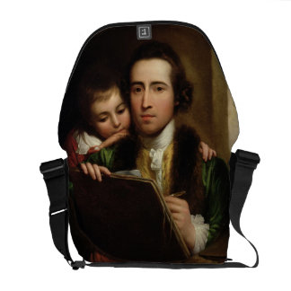 L'artiste et son Raphael de fils, c.1773 (l'huile  Besaces