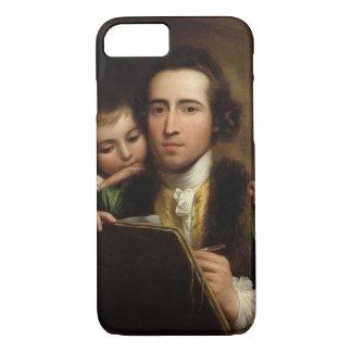 L'artiste et son Raphael de fils, c.1773 (l'huile Coque iPhone 7