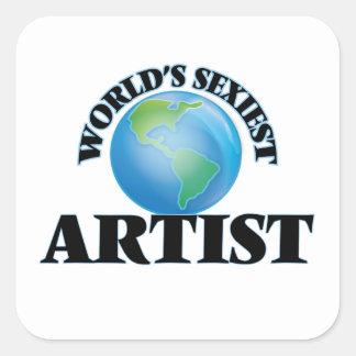 L'artiste le plus sexy du monde sticker carré