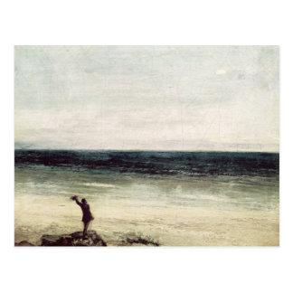L'artiste sur le bord de la mer chez Palavas Cartes Postales