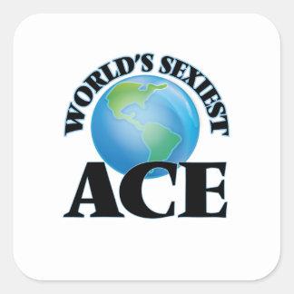 L'as le plus sexy du monde stickers carrés