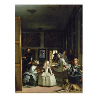 Las Meninas ou la famille de Philip IV, c.1656 2 Cartes Postales