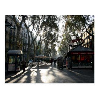 Las Ramblas, Barcelone, carte postale