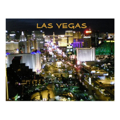 Las Vegas Boulevard la nuit Carte Postale