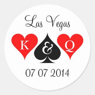 Las Vegas épousant des autocollants avec le