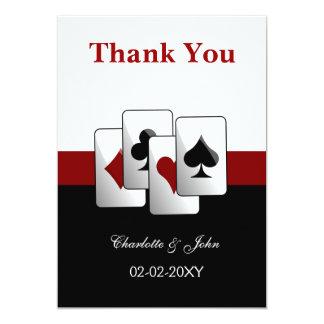 Las Vegas épousant des cartes de Merci Carton D'invitation 12,7 Cm X 17,78 Cm