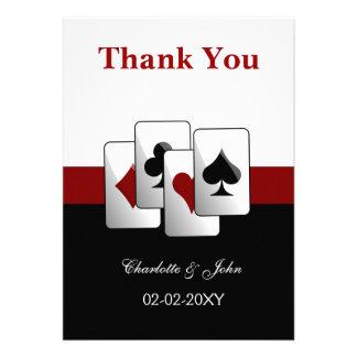Las Vegas épousant des cartes de Merci Faire-part Personnalisé