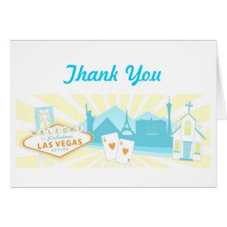Las Vegas épousant des cartes de Merci - pastel